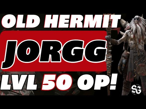 Old Hermit Jorgg level 50 endgame guide Raid Shadow Legends Regen set is king!!