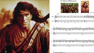 El último Mohicano. Promentory. Trevor Jones. Partitura flauta dulce.