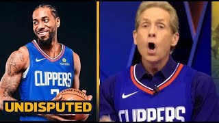 """UNDISPUTED - Skip Bayless Reveals officially a """"super fan"""" of Kawhi  Leonard & Clippers"""