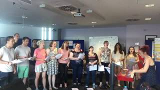 The National Health Singers/NHS Choir - still got fighting spirit! #sing2save #eyeofthetiger
