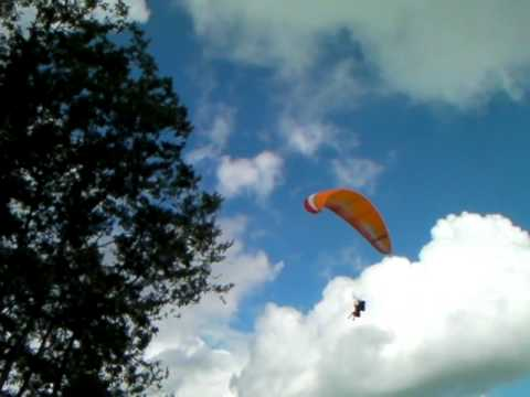 Michelle paragliding in Nepal!