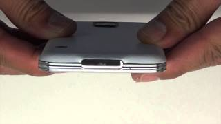 Samsung Galaxy S5 Wireless Charging Cover White Leather Skins Install by Stickerboy