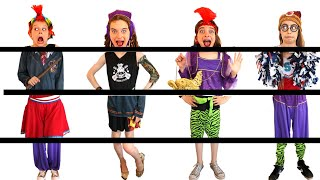 WE'RE ALL MIXED UP! PUT OUR FANCY DRESS OUTFITS BACK TOGETHER Challenge By The Norris Nuts