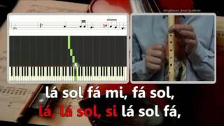 Coro dos escravos - Nabucco - Verdi - Va pensiero - Karaoke para flauta - Jose Galvao