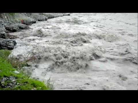 Full-flowing mountain Nepal river
