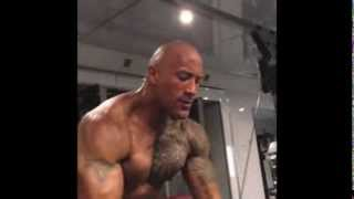 "Dwayne "" The Rock "" Johnson Workout video 2013 ( complete Instagram workout video collection )"