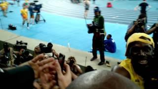 Usain Bolt após vencer os 100 metros no Rio 2016
