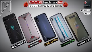 ROG Phone 2 vs Red Magic 3S vs IQOO Pro vs Black Shark 2 Pro vs Nubia Z20 AnTuTu Benchmark Test