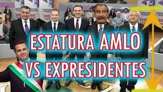 Cuánto mide AMLO y los ex PRESIDENTES mexicanos / ESTATURA DE LOS CANDIDATOS Y PRESIDENTES
