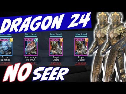 Dragon 24 speed runs NO SEER. Bringing Royal Guard back. Raid Shadow Legends