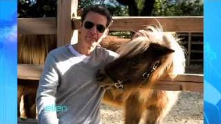 Vance DeGeneres Gets Close with Ellen's Horses