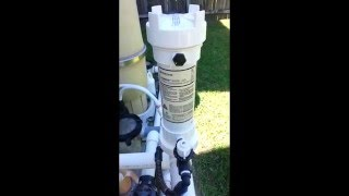 Inline chlorine chemical feeder fix