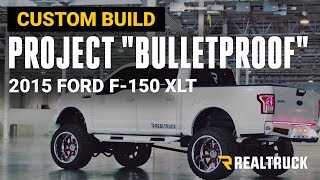 "Project ""Bulletproof"" Custom 2015 Ford F-150 XLT Truck Build 12"" Inch Lift on 24 x14 Fuel Wheels"