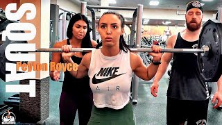 Peyton Royce Box Squats (OWN BODY WEIGHT!)