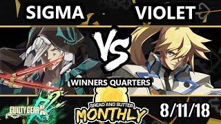 BnB 5 GGXRD - sigma (Raven) Vs. Violet (Ky) Guilty Gear Xrd REV 2 Winners Quarters