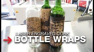 Cork Bottle Wraps | Wine Bottle Lables | Laser engraved cork