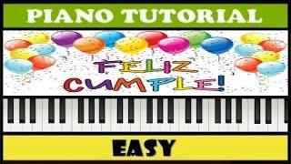 Feliz Cumpleaños | Happy Birthday to you | Easy Piano Tutorial (Synthesia)