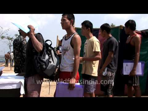 Mizo youths line up for army recruitment, Aizawl