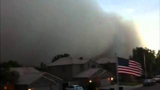 Arizona Spooky Dust Storm  - Day turns to Night in Seconds  (Live Video) July 5 2011