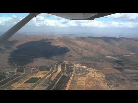 Flying in a Cessna 172 from Rustenburg to Lanseria near Johannesburg, South Africa