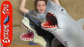"Great White Shark Causes Trouble for Ethan! ""Awesome Jaws Shark Toy"""