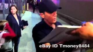 Antonio Banderas signing autographs at Jimmy Kimmel Live