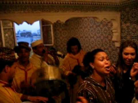 Ceremoni för giftermål i Casablanca Marocko.