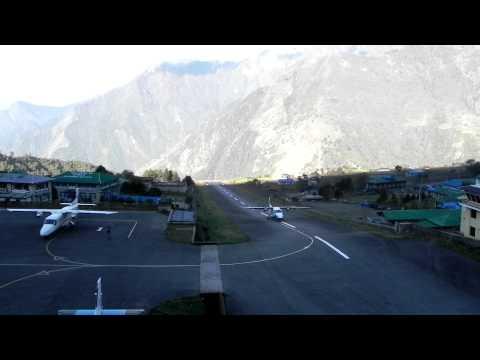 Landing Sita Air at Lukla Airport, Nepal 20.04.2011 [HD]