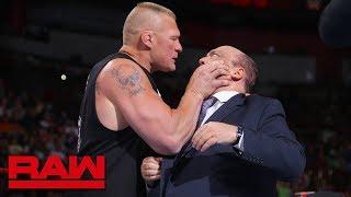 Brock Lesnar snaps and attacks Paul Heyman: Raw, July 30, 2018 width=