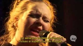 Adele - Chasing Pavements (Live AOL Sessions)_Subtitulos_Español