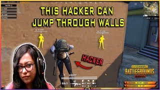 He has all types of hacks: super jump, wall hacks! #PUBGMOBILE hacker watch till the end!
