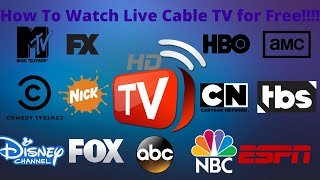How To Watch / Stream Live Cable TV For Free Online!!