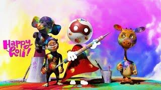 Holi Festival 2017 | Cartoon Animation For Kids
