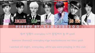 BTS - Sick/Dope (쩔어) [Hangul/Romanization/English] Color & Picture Coded HD