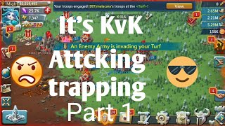 Lord's mobile kvk january 2019 attcking, trapping, defending | Lords mobile kvk
