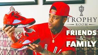 Trophy Room Friends & Family Jordan 5s! 223 pairs worldwide
