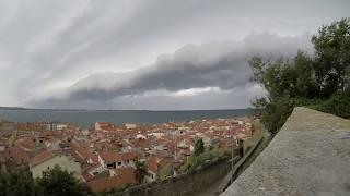 Shelf Cloud Timelapse (Piran, SW Slovenia) / Prihod Nevihte Piran   24.7.2017