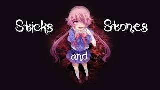Nightcore - Sticks And Stones || Lyrics
