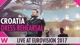 "Croatia: Jacques Houdek ""My Friend"" semi-final 2 dress rehearsal @ Eurovision 2017"