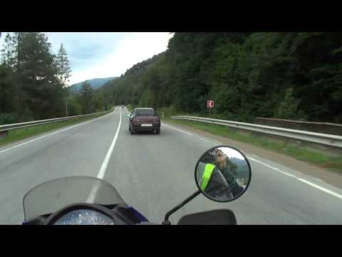 On the way to Hungary / Riding on a bike in Carpathian Mountains