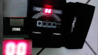 Reset de fábrica e calibração de pedal - Digitech Rp90