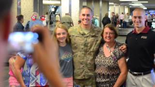 Surprise Video - FSU Fraternity Man/US Soldier Returns Home from Afghanistan to Surprise Girlfriend!