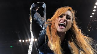 Becky Lynch sends Ronda Rousey a message from Nottingham, England