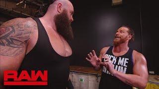Braun Strowman drives Curt Hawkins through a wall: Raw, April 2, 2018