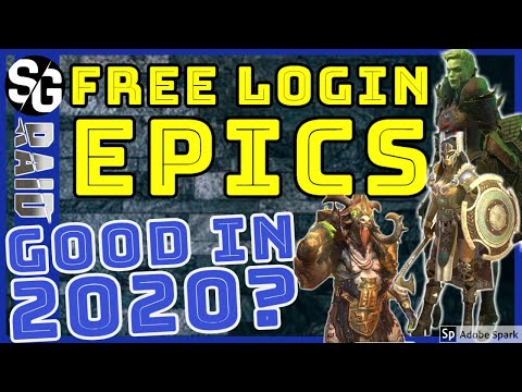 RAID SHADOW LEGENDS | FREE EPIC LOGIN CHAMPION REVIEW 2020 FOR 30|60|90 DAY LOGIN REWARDS
