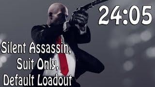 Hitman 2 (2018) Speedrun in 24:05   Silent Assassin, Suit Only, Default Loadout @Elajjaz
