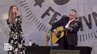John Prine sings 'In Spite of Ourselves' duet at Newport Folk Festival