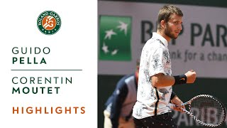 Guido Pella vs Corentin Moutet - Round 2 Highlights | Roland-Garros 2019