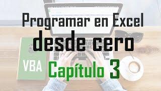 Curso programación en Excel: Subrutinas y funciones - Capítulo 3
