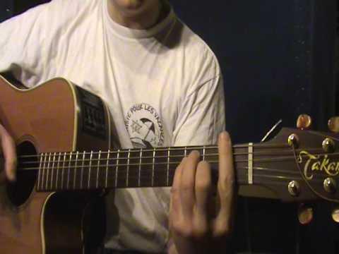 Comment jouer Aline de Christophe à la guitare (part 3)